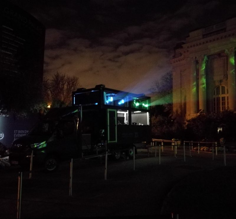 Video Mapping Truck